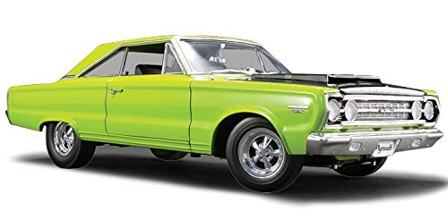 1967 Plymouth Belvedere GTX Limelight Green with Black Hood Limited Edition to 552 Pieces Worldwide 1/18 Diecast Model Car by Acme A1806703