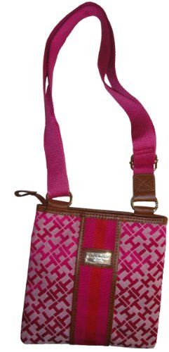 Tommy Hilfiger Small Crossbody Messenger Bag Handbag (Pink)