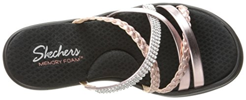 Skechers Cali Women's Rumblers-Social Butterfly Wedge Sandal,Rose Gold,7.5 M US by Skechers (Image #8)