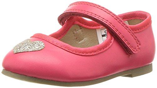 Carter's Alvina Girl's Ballet Flat, Pink, 12 M US Little Kid (Heart Dress Ballerina)