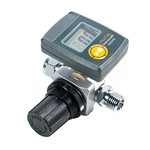 TGR Digital HVLP Spray Gun Air Regulator with Pressure Gauge and Diaphragm Control