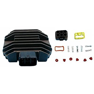 Tuzliufi Replace Voltage Regulator Rectifier Yamaha Yzf R6 Xvs 125 250 350 400 450 600 650 660 700 1100 Rhino Kodiak Grizzly Fz6r Bt1100 Vp300 Wr250R Yfm350 Yfm Big Bear 2WD 4WD Xvz1300 4A Majesty Z83: Automotive