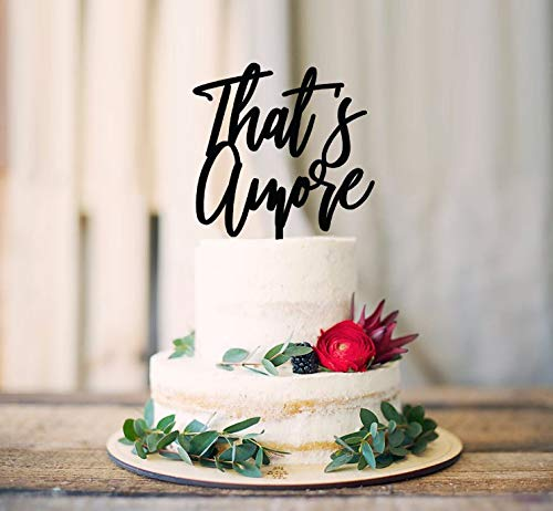 That'S Amore Cake Topper, Cake Decoration, Cake Decorating, Engagement, Cakes Wedding, Decor Rustic Cake Topper, Wedding Cake Topper, Cake