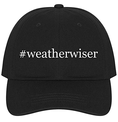 The Town Butler #Weatherwiser - A Nice Comfortable Adjustable Hashtag Dad Hat Cap, Black (Instruments Weatherwise)
