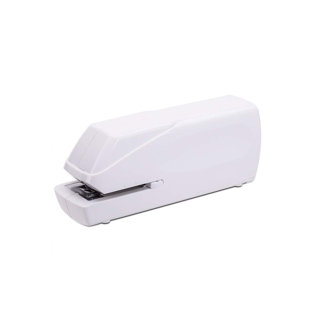 Electric Stapler - Electronic Automatic Stapling Stapler (24/6, 26/6) White by YANGLIYU