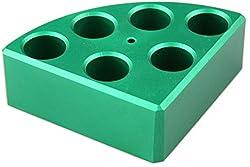 Scilogex 18900048 Quarter Reaction Block For 16 Ml Reaction Vessel 17.75 Mmdia, 26 Mmheight, 6 Holes, Green