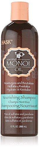 Hask Monoi Coconut Oil Nourishing Shampoo, 12 Ounce