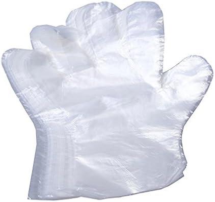 Einweghandschuhe Transparent Groß Aus Kunststoff Handschuhe Für Kochen Reinigung Küche Lebensmittel Handhabung 100 Stück Küche Haushalt