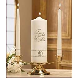 Will and Baumer Candle - Wedding - Unity Set - Two Shall Become One, white