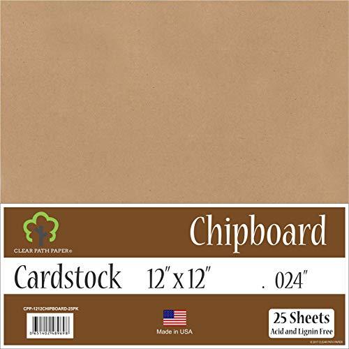 Chipboard - 12 x 12 inch - .024