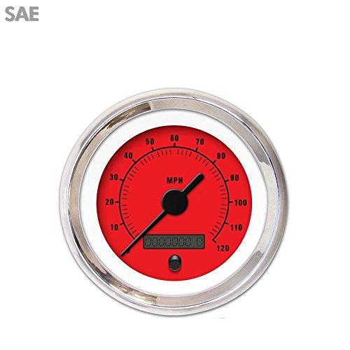 Rider Red Speedometer Gauge 1463 GAR161ZEXHABAC Aurora Instruments