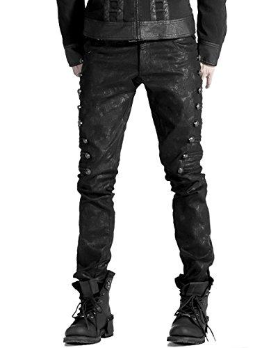 Punk Rave Herren Jeanshose schwarz schwarz