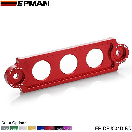 EPMAN Racing Jdm Style Battery Tie Down For Honda Civic/CRX 88-00 , Integra, S2000 (Red)