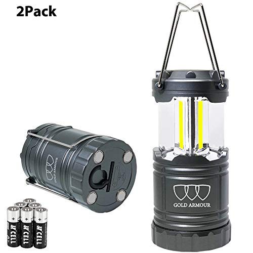 Gold Armour LED Camping Lantern (EMITS 350 LUMENS!) Brightest LED Lantern - Camping Equipment Gear Lights for Emergencies, Hurricanes, Outages (Cl91)