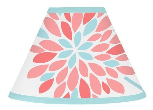 Sweet Jojo Designs Lamp Shade for Modern Turquoise and Coral Emma Bedding Collection (Coral Collection)
