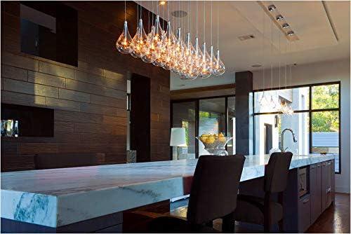 ET2 E20118-18 Larmes Modern Blown Glass Oversized Teardrops Rectangular Pendant Ceiling Lighting