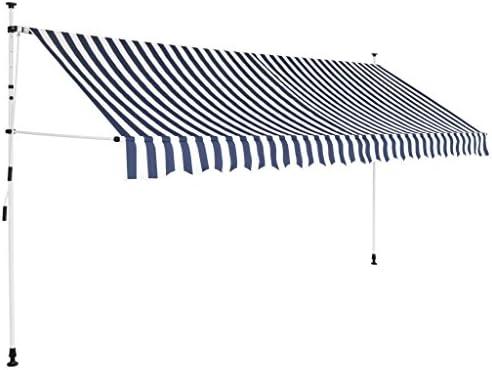 Unfade Memory Sun Shade Shelter Manual Patio Sun Shade Retractable Awning 157.5