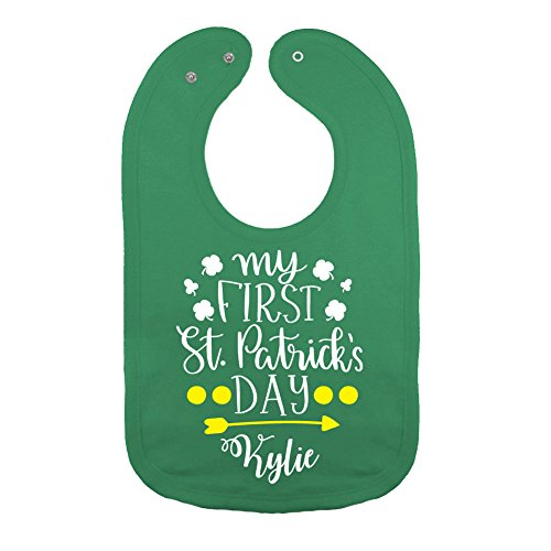 Personalized - My First St. Patrick's Day - Baby Bib (Kelly Green)