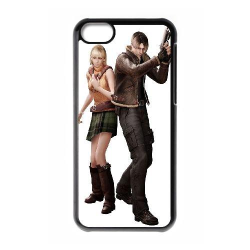 Ashley And Leon Resident Evil coque iPhone 5C Housse téléphone Noir de couverture de cas coque EBDOBCKCO17396
