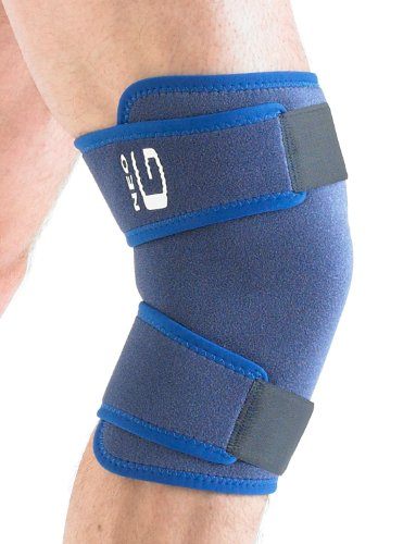Neo G Closed Knee Brace   Support For Arthritis  Joint Pain  Meniscus Pain  Knee Injuries  Recovery  Rehabilitation   Adjustable Compression   Class 1 Medical Device   One Size   Blue
