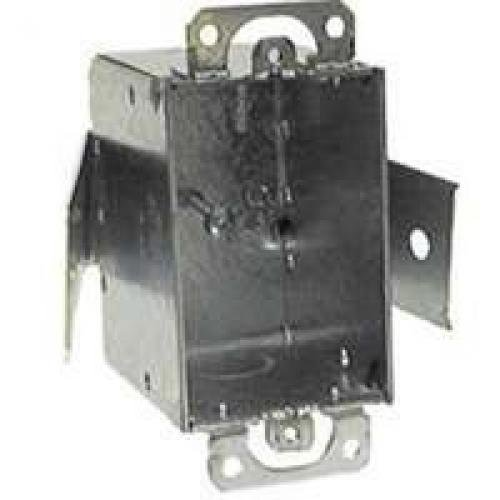 Hubbell-Raco 508 Welded 2-1/2-Inch Deep Switch Electrical Box, (2) 1/2-Inch End Knockouts, Old-Work Saddle, 3-Inch x 2-Inch