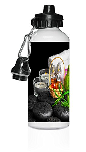 Aromatic Spa Set Bergamot Fruits Fresh White Aluminum Water Bottle