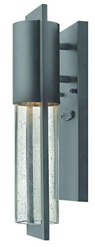 Hinkley 1326HE-LED Transitional One Light Wall Mount from Shelter collection in Bronze/Darkfinish,