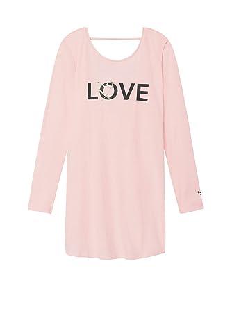 b632ba34267a5 Victoria's Secret Pink Love Graphic V-Back Sleep Tee Dress- Small at ...