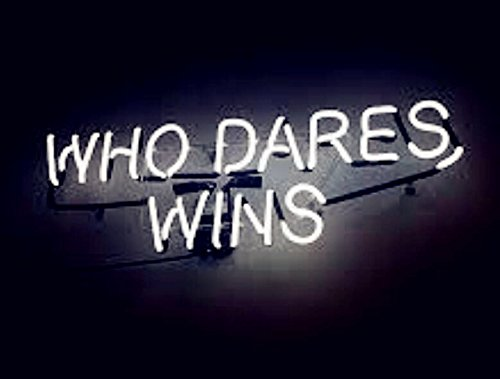 Mirsne neon signs, glass tube neon lights, 24'' by 20'' inch Who Dares Wins neon signs bar, the best neon sign custom supplied for a wide range of personal uses.