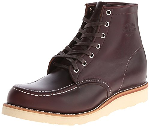 Moc Rolled - Original Chippewa Collection Men's 1901M20 6 Inch Moc Toe Boot, Cordovan, 10.5 E US