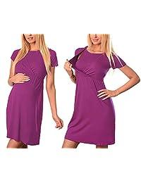 naughty kiss Vestido de Lactancia para mamá Embarazada, para Mujer, Vestido de Lactancia Casual