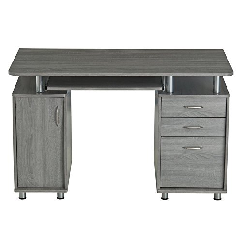 24' H Wall Cabinet (Computer Desk Made of Manufactured Wood with Powder Coated Hollow Steel Hardware and Support Posts Slide Out Keyboard Tray Different Colors Choose Your Now)