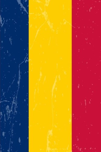 Chad Flag Journal: Chad Diary, lined Journal to write in