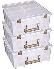 Deal on ArtBin Super Satchel Double Deep with Removable Dividers, 3-Pack, 1-Pack. Discount applied in price displayed.