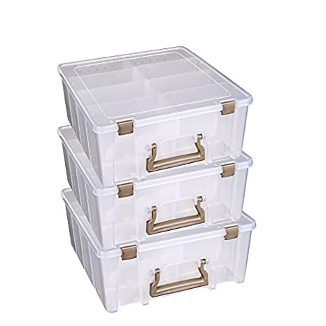 Artbin Marker Storage Satchel With 1-marker Tray And 2 Dividers; Clear Storage