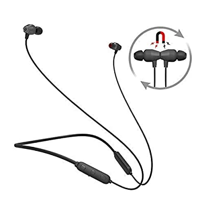Bluetooth Headphones Neckband, Wireless 4.1 Magnetic Earbuds Sports Sweatproof in-Ear Earphones Noise Cancelling Headset with mic for Android Phones (A6)