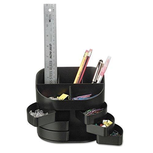 Double Supply Organizer, 11-Compartment, 6 1/2w x 4 3/4d x 5 3/4h, Black