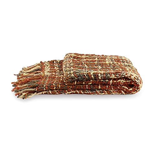 NOVICA Multicolor Acrylic Blanket Joyous Earth' Throw