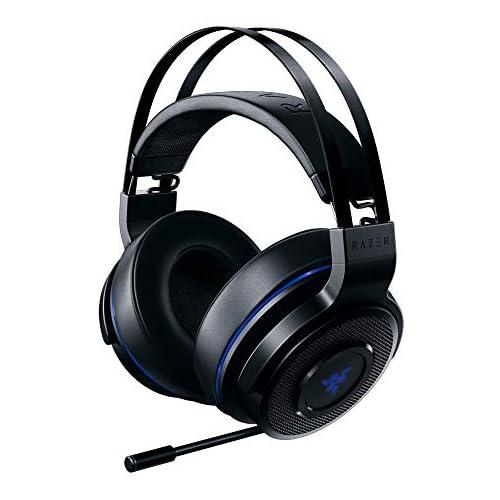 chollos oferta descuentos barato Razer Thresher PlayStation Auriculares inalámbricos para juegos PS4 PS5 y PC inalámbricos 16 horas de duración de la batería control en los auriculares almohadillas de cuero artificial negro azul