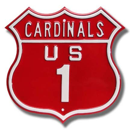 Authentic Street Signs Steel Route Sign: Cardinals US 1