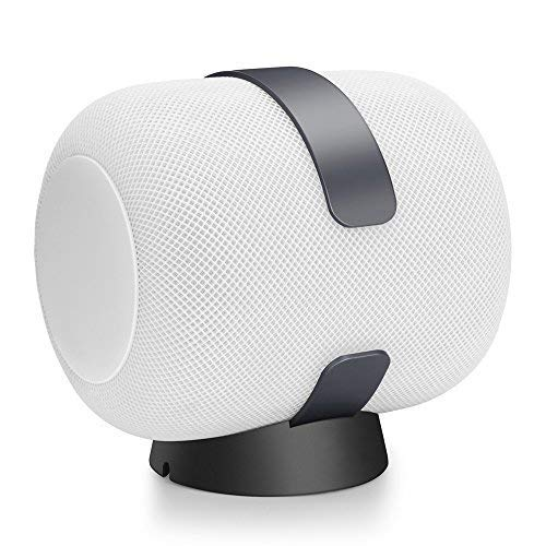 Scroll Latch - LIKDAY Wall Mount for HomePod Dark Gray,Sturdy Aluminum Alloy Made Bracket Mount Stand Anti-Scroll Holder for HomePod Smart Speaker