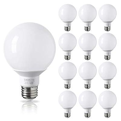 12 PACK - UL & ENERGY STAR LISTED - 5W 40W Equiv. G25 LED Bulb, Globe Vanity Light, Medium E26 Base, Omnidirectional Bulb for Bath, Pendant, Dressing Room & Vanity Strip