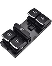 Window Lift Button for SEAT for Altea for Ibiza for Leon for Toledo Car Electric Power Master Window Switch Glass Lifter Button OE: 5ND 959 857