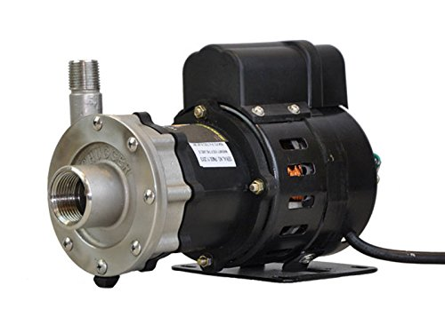 Chugger Pump CPSSMAX-CI-1 Stainless Steel Center Max Series Brew Pump .125 HP, 115 Volt AC Motor, 1″ FPT x ()