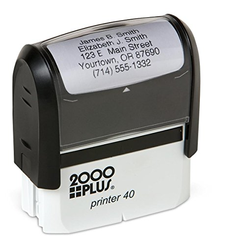 Basic Personalized Self-Inking Address Stamp with 5 Lines - Black Ink -
