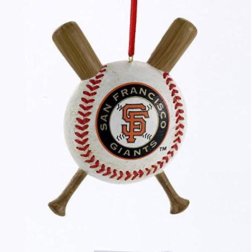 Kurt Adler San Francisco Giants Baseball and Crossed Bats MLB Christmas Ornament
