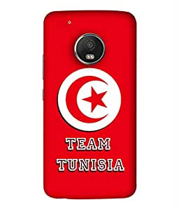 ColorKing Football Tunisia 02 Red shell case cover for Motorola Moto G5 Plus