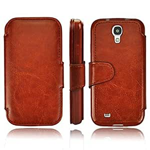 Top Grade PU Business Leather case with Card Slot for Samsung Galaxy SIV S4/i9500 , Black