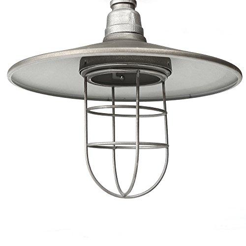 Retro Edison Pendant Light, 1 Light Semi Flush Mount Ceiling Light, Industrial/Country Style Pendant Lamp, Galvanized Steel Finish by Chrasy (Image #6)