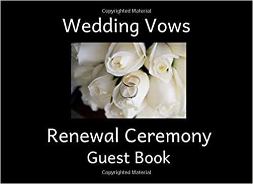 Wedding Vows Renewal Ceremony Guest Book An Event Sign In Keepsake